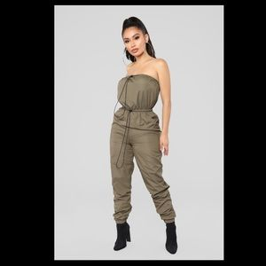 Sexy olive jumpsuit!
